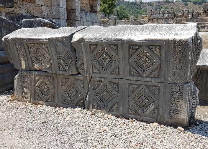 Perge antik kenti Roma kapısı kalıntıları - Perge ancient city photos the Roman gate ruins