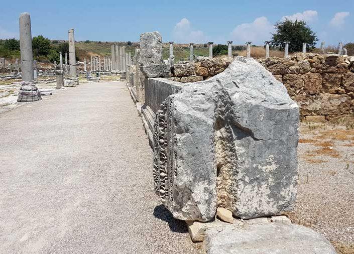 Perge antik kenti agorası veya pazar yeri - Perge ancient city's agora