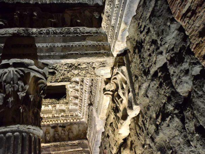 Roma İmparatorluk Forumları Nerva Forumu yapı detayları - Imperial forums Nerva Forum building details