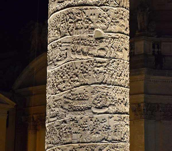 Roma İmparatorluk Forumları Traianus veya Trajan sütunu detayları - Roman Imperial Forums Trajan's column