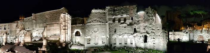 Roma İmparatorluk Forumları panoramik fotoğraf - Imperial Forums panoramic photo