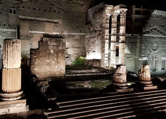 Roma Forumu (imparatorluk Forumları) içinde Augustus Forumu - Forum of Augustus ( Foro di Augusto), Rome