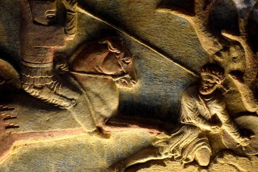 Troya müzesi Altıkulaç lahdi detayları - Details of Altıkulaç Sarcophagus Troy museum