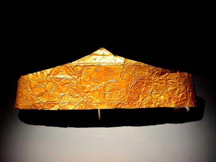 Troya müzesi Troas hazinesi altın alınlık Helenistik dönem MÖ 4-3 yy - Troy museum Troad treasure gold diadem Hellenistic period 4-3 century BC