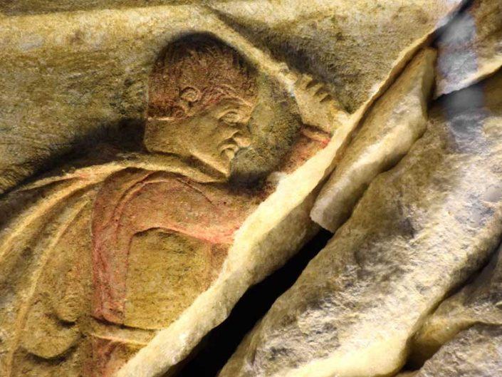 Troya müzesi fotoğrafları Altıkulaç Lahdi detayları - Troy museum, details of Altıkulaç sarcophagus