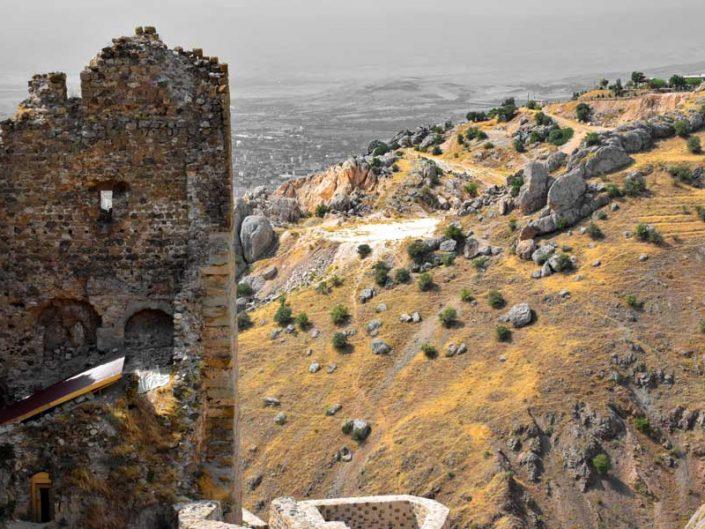 Harput kalesi üçüncü bölge kazıları ve manzarası - Harput fortress excavation of Area 3