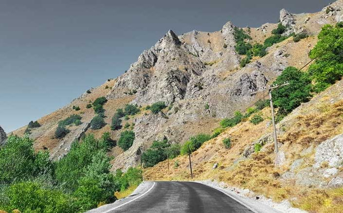 Erzincan Refahiye ile Kemaliye arasındaki yol - The road between Erzincan Refahiye and Kemaliye
