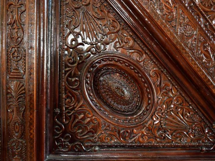 Eski Malatya Ulu Cami minberi ahşap işlemeleri - Malatya historical Great Mosque's pulpit wooden decorations