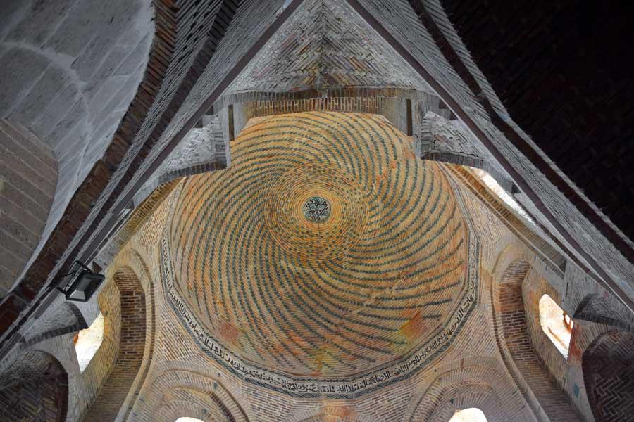 Eski Malatya veya Battalgazi ilçesi Ulu Cami kubbesi (Anadolu Selçuklu camisi) - Old Malatya dome of the Great Mosque (Anatolian Seljuk mosque)
