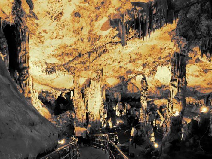 Ballıca mağarası veya İndere mağarası Sütunlar Salonu - Ballıca Cave or Indere Cave Colums Hall