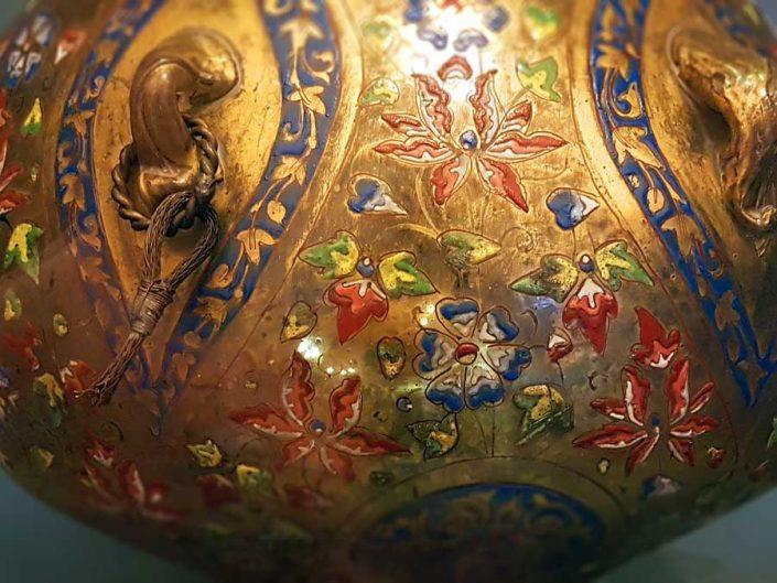 Konya Mevlana müzesi cam kandil, Memluklu 15.yy - Mevlana museum glass lamp, Mameluke 15th Century