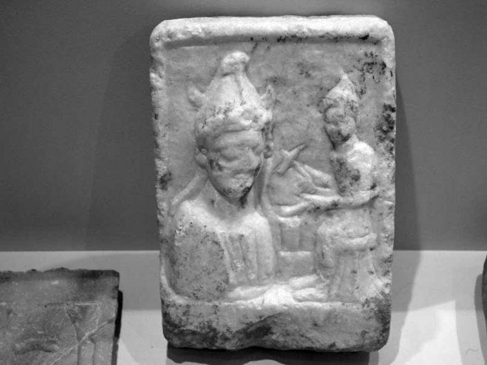 Tekirdağ Arkeoloji ve Etnografya Müzesi Hephaistos Adak steli Roma dönemi, Kermeya köyü - Tekirdağ Archeology and Ethnography Museum Hephasitos offering stele Roman Period