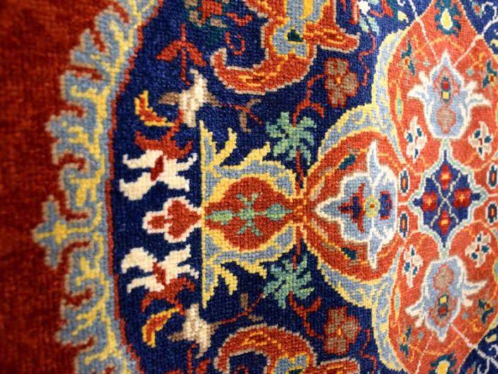 Uşak Halı Kilim Müzesi Uşak halısı ilmik detayı - Uşak carpet noose detail