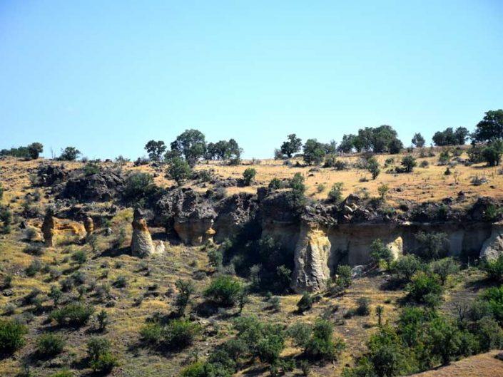 Uşak Mesotimolos antik kenti çevresindeki doğal oluşumlar - Natural formations around the ancient city of Mesotimolos