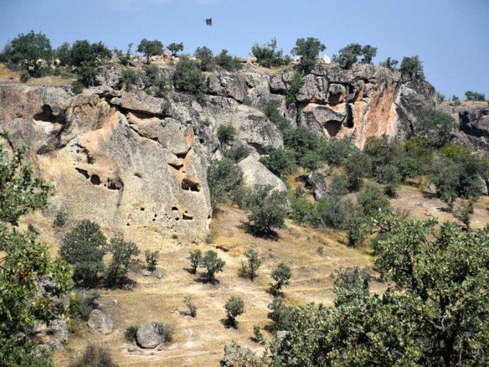 Uşak gezilecek yerler Mesotimolos antik kenti Düzköy - Mesotimolos ancient city