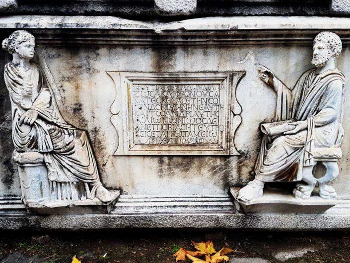 Konya Arkeoloji Müzesi Roma dönemi lahiti - Konya Archeology Museum Roman period sarcophagus