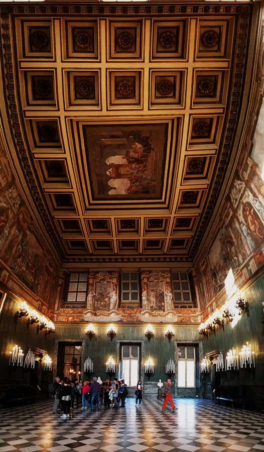 Torino Kraliyet Sarayı İsviçre salonu - Turin Royal Palace Swiss hall