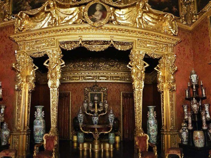 Torino Kraliyet Sarayı tarihi kameriye - Turin Royal Palace historical bower (sala de'll'Alcova)