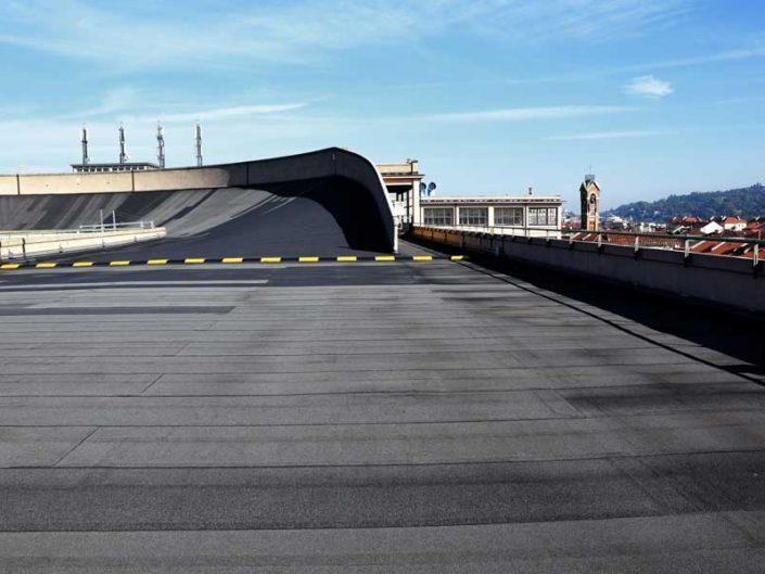 Torino eski Fiat fabrikası çatı test pisti fotoğrafları - Turin old Fiat car factory roof test track photos