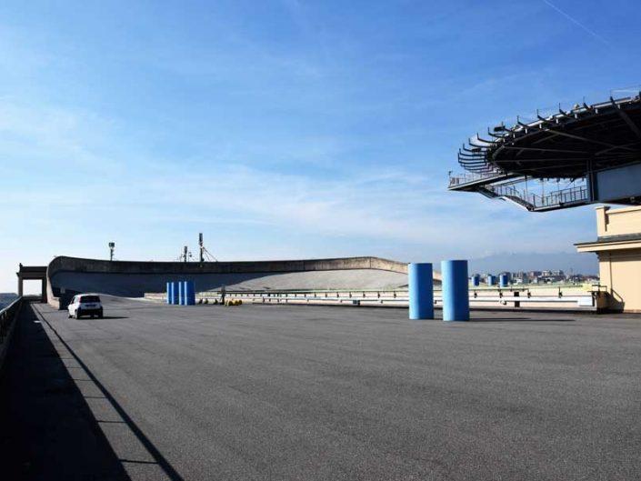Torino eski Fiat fabrikası çatı test pisti ve deneme sürüşü - Turin old Fiat factory roof test track and test drive