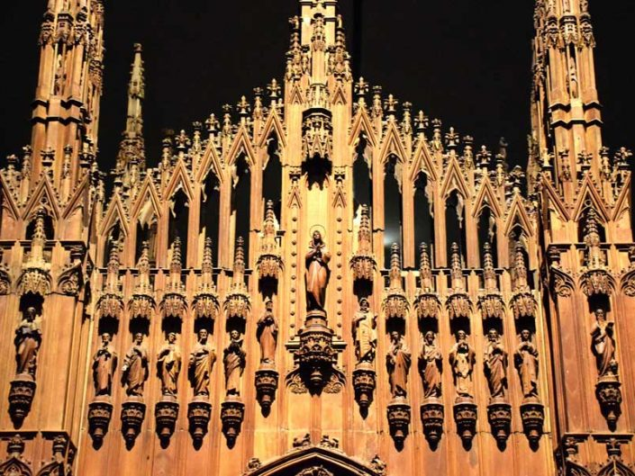 Milano Katedrali 1:22 oranında küçültülmüş ahşap maketi, yapım yılı 1519-1891 - Museum of Milan Cathedral, Milan Cathedral 1:22 scale timber model