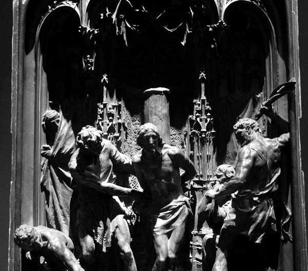 Milano Katedrali Müzesi Hz. İsa kırbaçlanma sahnesi, 1904 Lodovico Pogliaghi - Museum of Milan Cathedral Flagellation