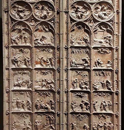 Milano Katedrali Müzesi, Milano katedrali ana kapı eskiz çalışması, Lodovico Pogliaghi 1819 - Museum of Milan Cathedral, Joys and Sorrows of the Virgin, sketch for the main door