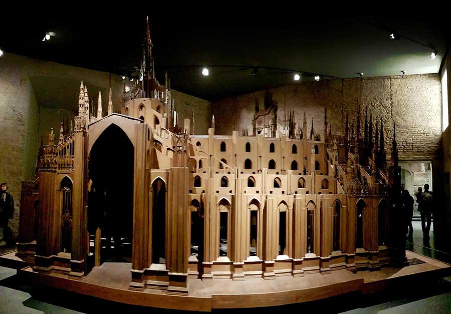 Milano Katedrali Müzesi, Milano katedrali ahşap maketi yapım yılı 1519-1891 - timber model of Milan cathedral made year 1519-1891