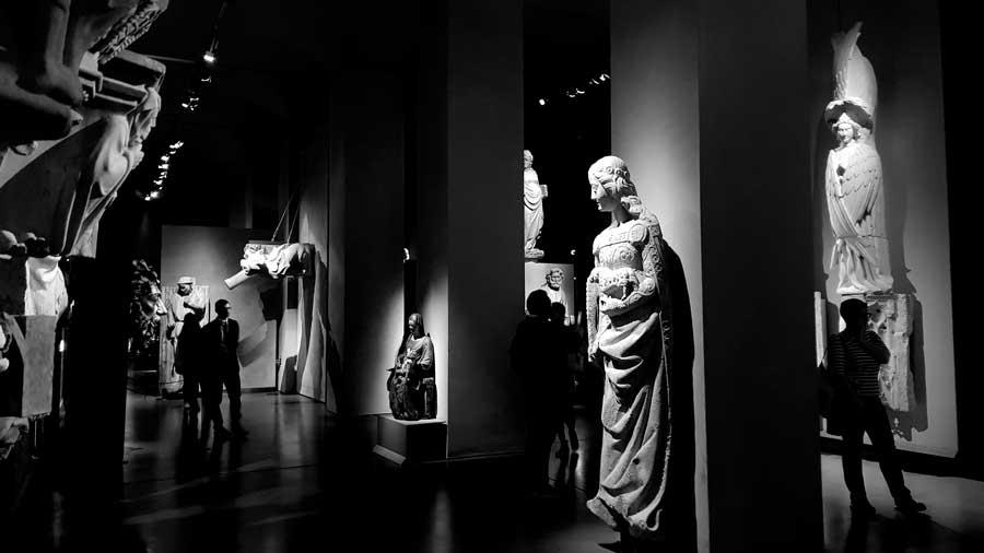 Milano Katedrali Müzesi eserleri sergi salonları - Museum of Milan Cathedral exhibition halls