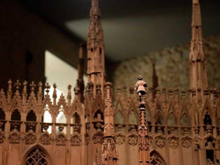 Milano Katedrali Müzesi ahşap katedral maketi - Museum of Milan Cathedral, timber cathedral model
