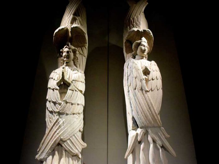 Milano Katedrali Müzesi orijinal melek (Seraphim) heykelleri - Museum of Milan Cathedral Seraphims