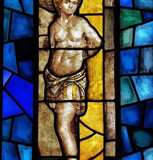 Milano Katedrali Müzesi tarihi orijinal vitraylar - Museum of Milan Cathedral stained glass panels