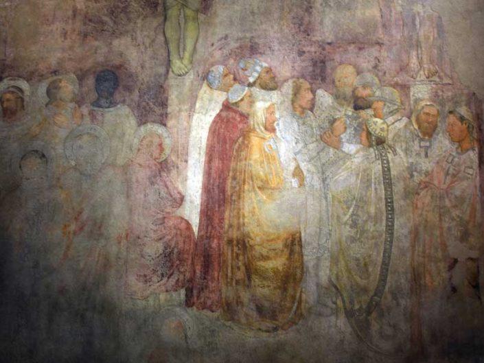 Milano katedrali Müzesi Milano katedrali çarmıha germe konulu duvar resmi 1335-1336 - Museum of Milan Cathedral Crucifixion wall painting