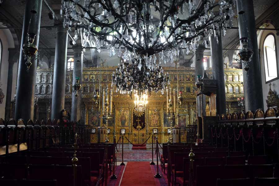 Aya Yorgi Rum Patrikhane Kilisesi içi - interior of the St. George's Cathedral, Istanbul