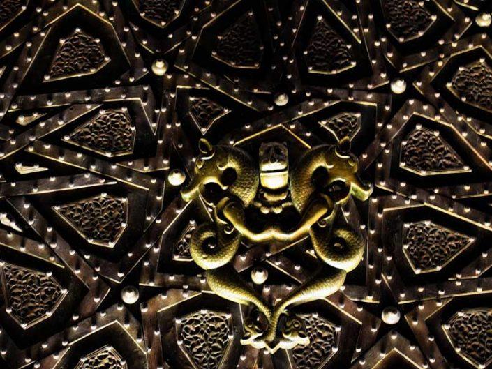Türk ve İslam Eserleri Müzesi fotoğrafları Artuklu Dönemi Cizre Ulu Cami kapı tokmağı 13.yy - Turkish and Islamic Arts Museum doorknob of the Great Mosque of Cizre 13th Century