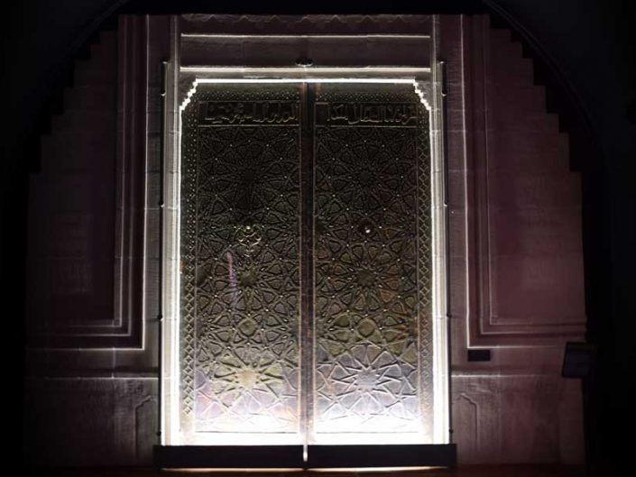 Türk ve İslam Eserleri Müzesi Artuklu Dönemi Cizre Ulu Cami kapısı 13.yy - Turkish and Islamic Arts Museum door of the Great Mosque of Cizre, Artuqids Period 13th Century