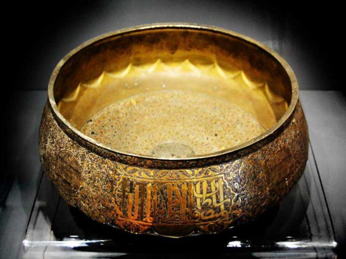 Türk ve İslam Eserleri Müzesi Eserleri Memluk Dönemi Bâdiye 15.yy - Turkish and Islamic Arts Museum Large bowl Mamluk period 15th Century