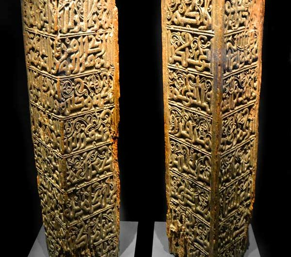 Türk ve İslam Eserleri Müzesi Eyyübi Dönemi ahşap sütunlar 13.yy - Turkish and Islamic Arts Museum Wooden Column Ayyubid Period 13th Century