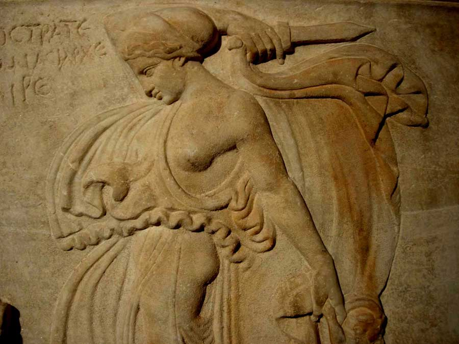 İstanbul Arkeoloji Müzesi eserleri Dans Eden Maenad - Dancing Maenad, Turkey Istanbul Archaeology Museum