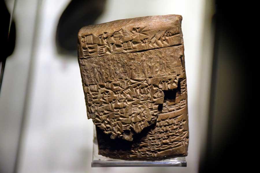 Anadolu Medeniyetleri müzesi Asur çivi yazısı tableti Kaniş Karumu'nun kararı - Assyrian cuneiform tablet Verdict of Kanesh Karum, Anatolian Civilizations Museum photos