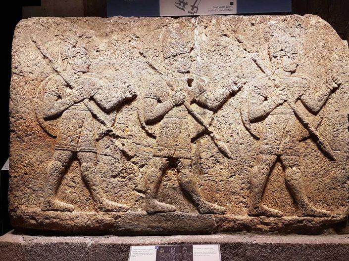 Anadolu Medeniyetleri müzesi Haberciler duvarı Ortostatı Gaziantep M.Ö.900-700 - Anatolian Civilizations Museum Orthostats of Herald's wall Kargamis 900-700 B.C.