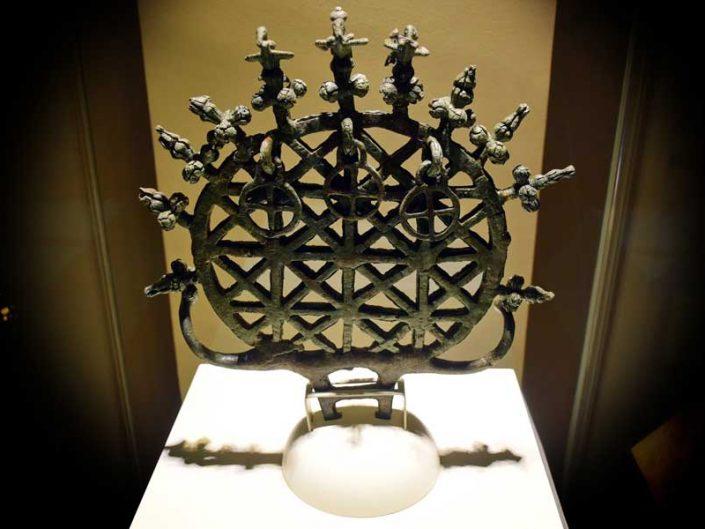 Anadolu Medeniyetleri Müzesi Hitit Güneş kursu Alacahöyük M.Ö. 2500-2250 - Anatolian Civilizations Museum Hittite Sun Disk, 2500-2250 B.C.