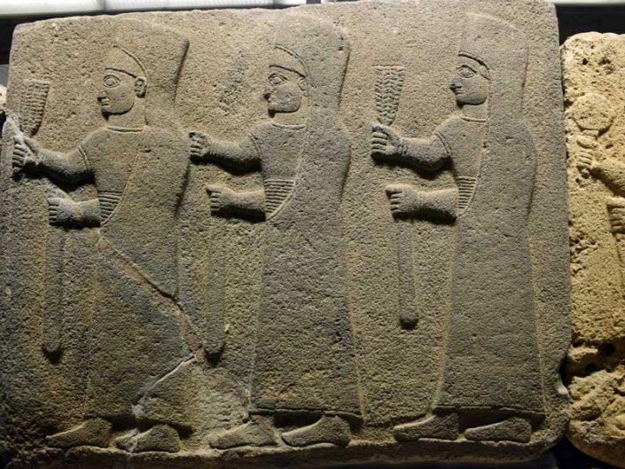 Anadolu Medeniyetleri Müzesi Tören alayı ortostatı, Gaziantep M.Ö. 900-700 - Anatolian Civilizations Museum Orthostats of procession 900-700 B.C.