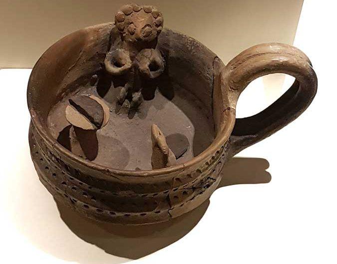 Anadolu Medeniyetleri müzesi eserleri Hitit dönemi tören kabı - Anatolian Civilizations Museum Hittite period ritual vessel