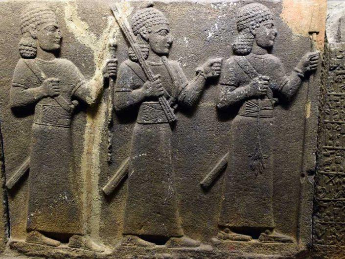 Anadolu Medeniyetleri Müzesi kral burcu ortostatı, Gaziantep M.Ö. 900-700 - Anatolian Civilizations Museum orthostats of royal buttess Gaziantep 900-700 B.C.