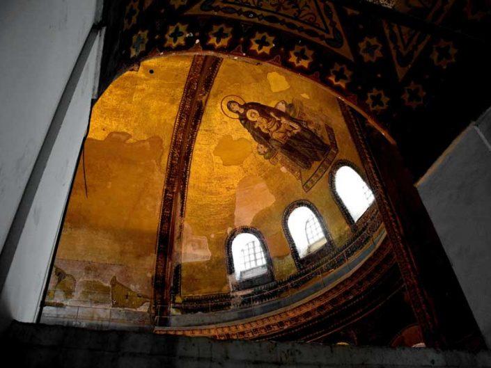 Ayasofya Meryem Ana ve İsa mozaiği - Hagia Sophia Virgin Mary and Christ mosaic