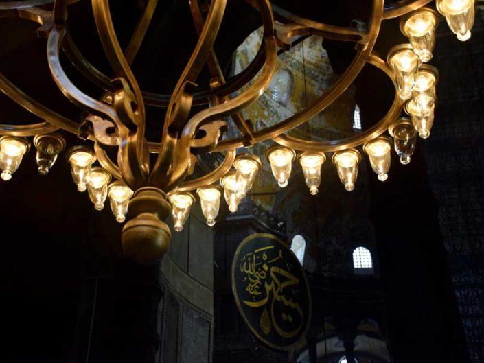 Ayasofya avize detayı - Hagia Sophia chandelier detail