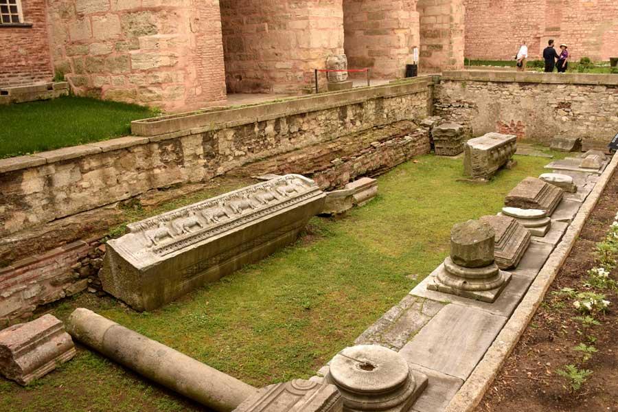 Ayasofya fotoğrafları, İkinci Ayasofya Katedrali kalıntıları - Remains of 2. Hagia Sophia Cathedral photos