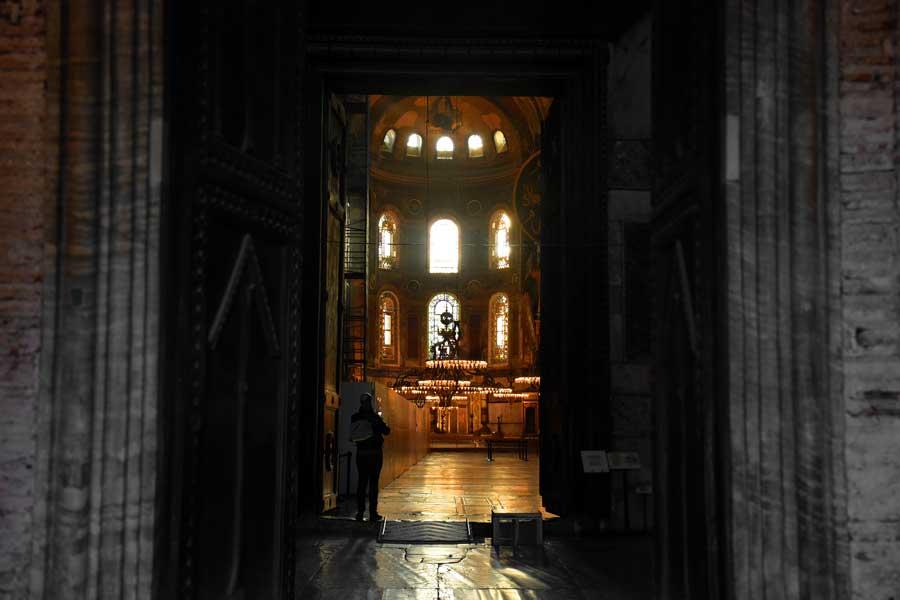 Ayasofya fotoğrafları iç narteks ve büyük salon - Hagia Sophia interior narthex and large hall