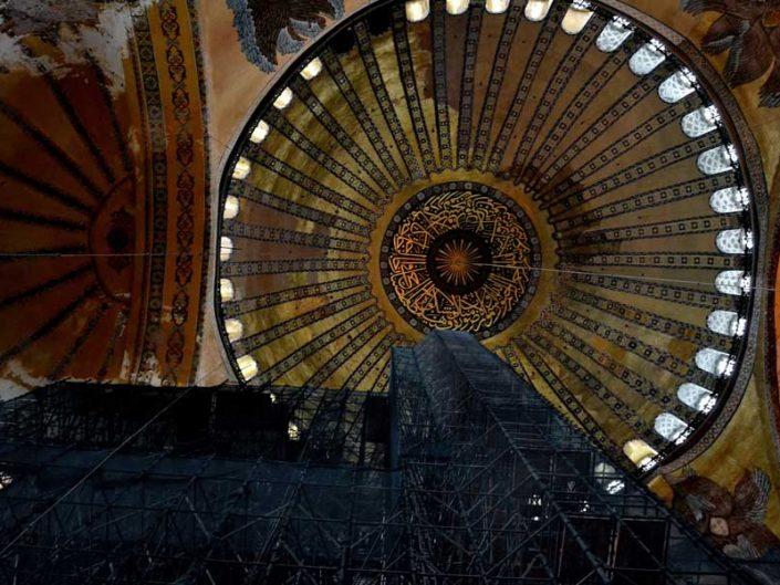 Ayasofya fotoğrafları kubbe ve yarım kubbe - Hagia Sophia's dome and apse